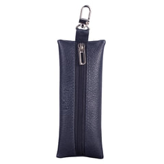 """Футляр для ключей BEFLER """"Грейд"""", натуральная кожа, на молнии, 135x55 мм, синий"""