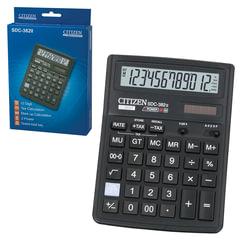 Калькулятор CITIZEN настольный SDC-382, 12 разрядов, двойное питание, 192х143 мм
