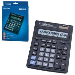 Калькулятор CITIZEN настольный SDC-554S, 14 разрядов, двойное питание, 199x153 мм