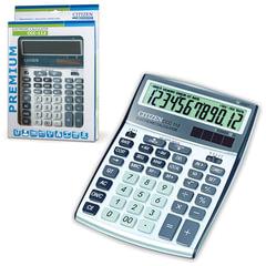 Калькулятор CITIZEN настольный CCC-112WB, 12 разрядов, двойное питание, 207x155 мм