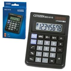 Калькулятор CITIZEN настольный SDC-011S, 8 разрядов, двойное питание, 87x120 мм