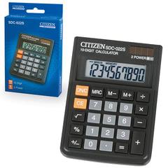 Калькулятор CITIZEN настольный SDC-022S, 10 разрядов, двойное питание, 87x120 мм