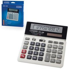 Калькулятор CITIZEN настольный SDC-368, 12 разрядов, двойное питание, 152x154 мм