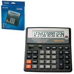 Калькулятор CITIZEN настольный SDC-640II, 14 разрядов, двойное питание, 156x156 мм