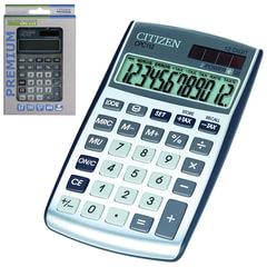 Калькулятор CITIZEN карманный CPC-112WB, 12 разрядов, двойное питание, 120х72 мм