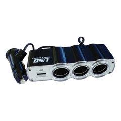 Разветвитель в гнездо прикуривателя SUPRA SCP 1-4U на 3 гнезда, USB