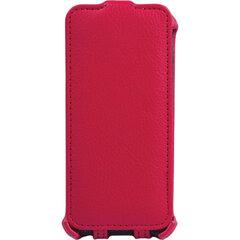 Чехол-обложка для телефона iPhone 5/5S SONNEN, кожзаменитель, вертикальный, красный