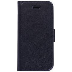 Чехол-обложка для телефона iPhone 5/5S SONNEN, кожзаменитель, горизонтальный, черный