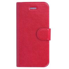 Чехол-обложка для телефона iPhone 5/5S SONNEN, кожзаменитель, горизонтальный, красный