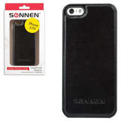 Защитная панель для iPhone 5/5S SONNEN, пластик/кожзаменитель, черная