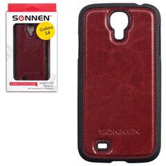 Защитная панель для Samsung Galaxy S4 SONNEN, пластик/кожзаменитель, коричневая