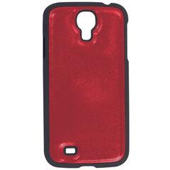 Защитная панель для Samsung Galaxy S4 SONNEN, пластик/кожзаменитель, красная
