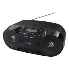 Магнитола SONY ZS-RS70BT, CD-RW, CD-R, MP3, выходная мощность 4,6 Вт, USB, FM/AM-тюнер, Bluetooth, NFC, ЖК-дисплей, цвет чёрный