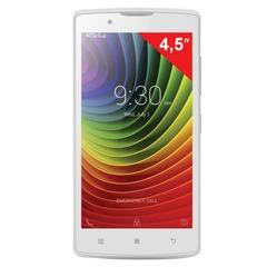 "Смартфон LENOVO A2010, 4,5"", 2 SIM, 3G, 2/5 Мп, 8 Гб, microSD, белый, пластик"