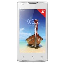 "Смартфон LENOVO A1000, 4"", 2 SIM, 3G, 0,3/5 Мп, 8 Гб, microSD, белый, пластик"