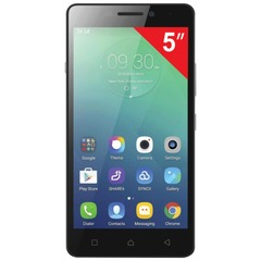 "Смартфон LENOVO P1m, 5"", 2 SIM, 4G (LTE), 5/8 Мп, 16 Гб, microSD, черный, пластик"
