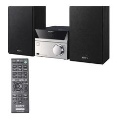 Музыкальный центр SONY CMT-S20, CD, MP3, WMA, USB, AM/FM-тюнер, выходная мощность 10 Вт, черный/серебристый