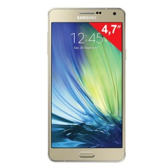 "Смартфон SAMSUNG Galaxy A3, 2 SIM, 4,7"", 4G (LTE), 5/8 Мп, 16 Гб, microSD, золотой, сталь и стекло"