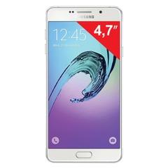 "Смартфон SAMSUNG Galaxy A3, 2 SIM, 4,7"", 4G (LTE), 5/8 Мп, 16 Гб, microSD, белый, сталь и стекло"
