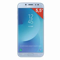 "Смартфон SAMSUNG Galaxy J7, 2 SIM, 5,5"", 4G (LTE), 13/13 Мп, 16 ГБ, microSD, голубой, металл и стекло (2017)"