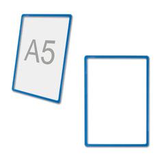 Рамка POS для ценников, рекламы и объявлений А5, размер 210х148,5 мм, синяя, без защитного экрана