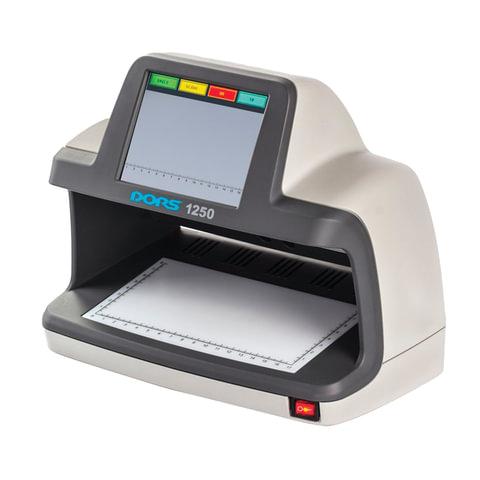 """Детектор банкнот DORS 1250, ЖК-дисплей 13 см, просмотровый, ИК, УФ детекция спецэлемент """"М"""""""
