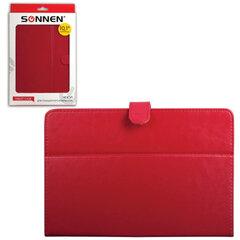 """Чехол-обложка для планшетного ПК универсальный 10,1"""" SONNEN, кожзаменитель, 275x190x25 мм, красный"""