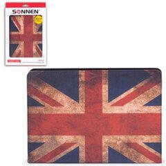 """Чехол-обложка для планшетного ПК универсальный 10,1"""" SONNEN, кожзаменитель, 275x190x25 мм, цветная печать, флаг"""