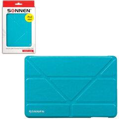 Чехол-обложка для планшетного ПК iPad mini SONNEN, кожзаменитель, подставка, голубой