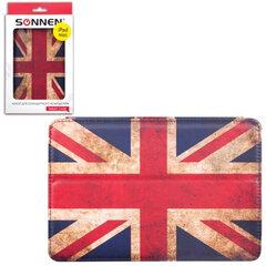 Чехол-обложка для планшетного ПК iPad mini SONNEN, кожзаменитель, подставка, цветная печать, флаг