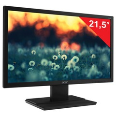 """Монитор LED 21,5"""" (55 см) ACER V226HQLBbd (UM.WV6EE.B01), 1920x1080, TN+film, 16:9, DVI, D-Sub, 200 cd, 5 ms, черный"""