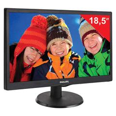 """Монитор LED 18,5"""" (47 см) PHILIPS 193V5LSB2, 1366x768, TN+film, 16:9, D-Sub, 200 cd, 5 ms, черный"""