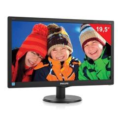 """Монитор LED 19,5"""" (50 см) PHILIPS 203V5LSB2, 1600x900, TN+film,16:9, D-Sub, 200 cd, 5 ms, черный"""