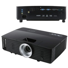 Проектор мультимедийный ACER P1285, DLP, 1024х768, 3300 Лм, 20000:1, 2,0 кг, 3D, VGA
