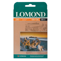 Фотобумага LOMOND для струйной печати, 10х15 см, 230 г/м2, 50 л., односторонняя, матовая