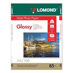 Фотобумага LOMOND для струйной печати А4, 85 г/м2, 100 л., односторонняя, глянцевая, 0102145