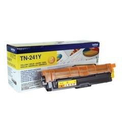 Картридж лазерный BROTHER (TN241Y) HL-3140CW/DCP-9020CDW/MFC-9140CDN и другие, желтый, оригинальный, ресурс 1400 стр.