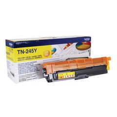 Картридж лазерный BROTHER (TN245Y) HL-3140CW/DCP-9020CDW/MFC-9140CDN и другие, желтый, оригинальный, ресурс 2200 стр.