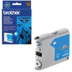Картридж струйный BROTHER (LC1000C) DCP-130C/770CW/MFC-240C/680CN и др, голубой, оригинальный, ресурс 400 стр.