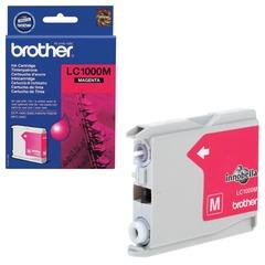 Картридж струйный BROTHER (LC1000M) DCP-130C/770CW/MFC-240C/680CN и др, пурпурный, оригинальный, ресурс 400 стр.