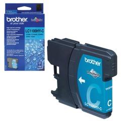 Картридж струйный BROTHER (LC1100HYC) DCP-6690CW/MFC-5890CN/5895CW и др., голубой, оригинальный, ресурс 750 стр.