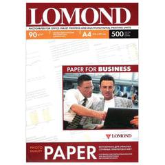 Фотобумага LOMOND для струйной печати, A4, 90 г/м2, 500 л., односторонняя, матовая, 0102131