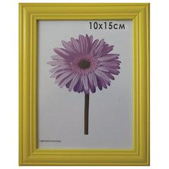 "Рамка премиум 10х15 см, ""Linda"", дерево, желтая (для фотографий)"