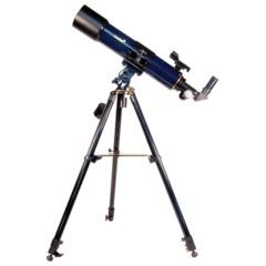 Телескоп LEVENHUK Strike 90 PLUS, рефрактор, 3 окуляра, ручное управление, для начинающих