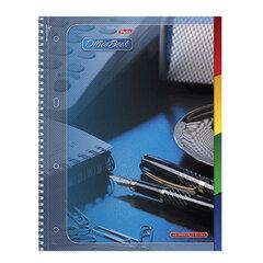 """Тетрадь 120 л., А4 HATBER, 7БЦ, 4-цветный внутренний блок, спираль, кл.,, """"Office Book"""" (""""Офис"""")"""