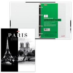 """Тетрадь на кольцах, 120 л., HATBER, ламинированная обложка, """"Париж"""""""