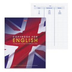 """Тетрадь-словарик, 48 л., А5, HATBER, для записи английских слов, """"Английский флаг"""""""