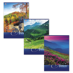 """Тетрадь 80 л., А4, HATBER VK, клетка, обложка мелованный картон, """"Nature"""" (""""Природа""""), 80Т4C3"""