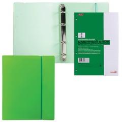 """Тетрадь на кольцах, 120 л., HATBER, пластиковая обложка, """"DIAMOND-зеленая"""""""