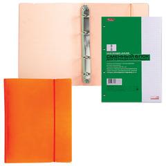 """Тетрадь на кольцах, 120 л., HATBER, пластиковая обложка, """"DIAMOND-оранжевая"""""""
